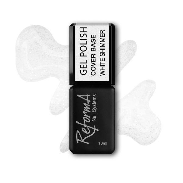 Gel Polish Cover Base White Shimmer, 10ml