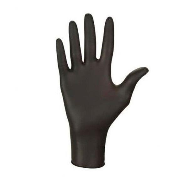 Czarne rękawiczki, 100szt - rozm.S