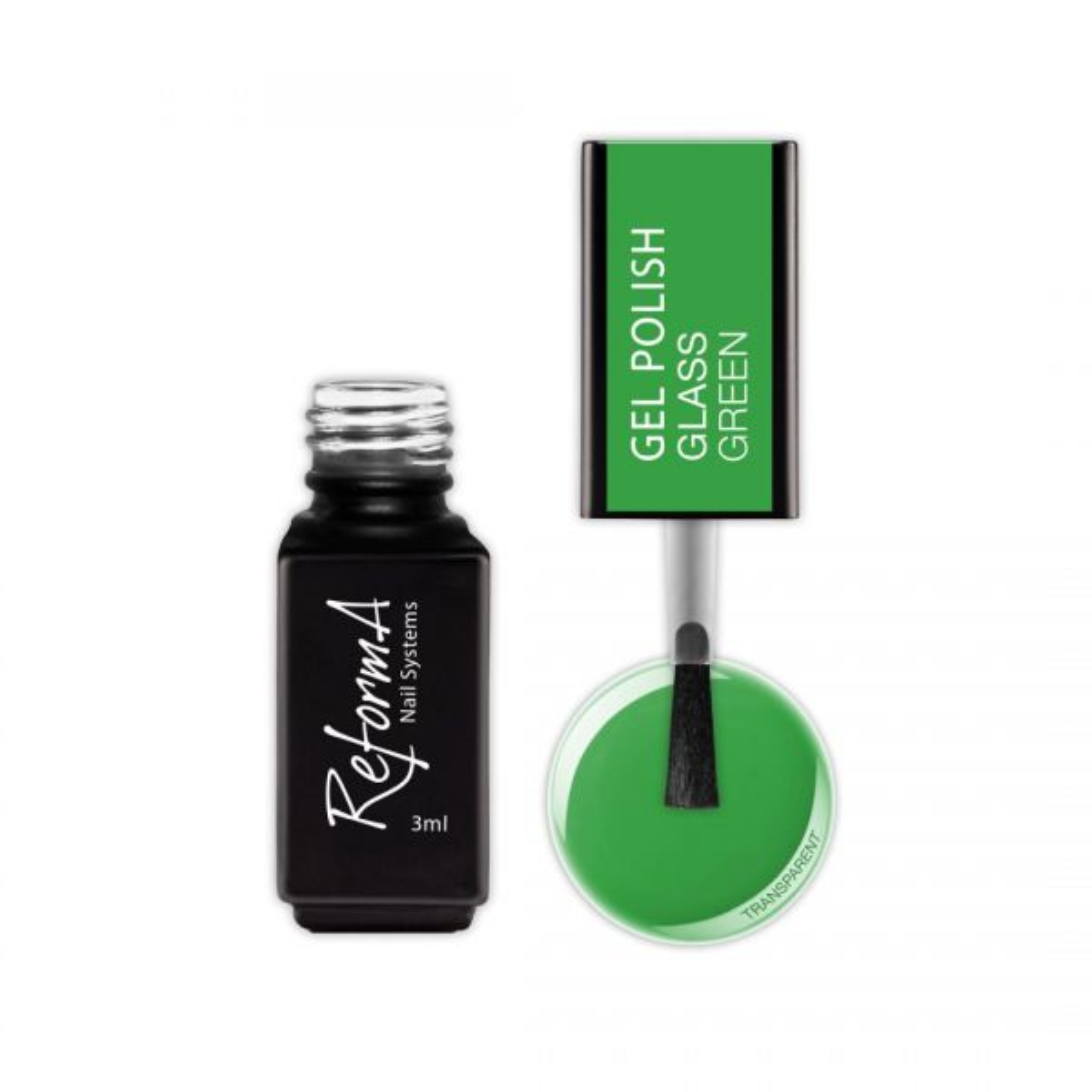 Gel Polish - Glass Green, 3ml