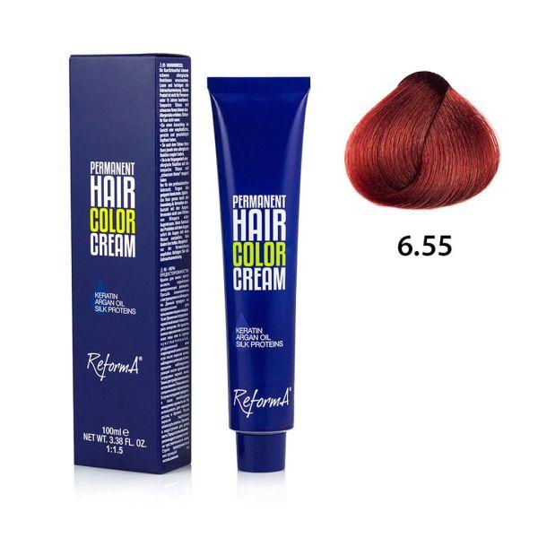 Krem koloryzujący - 6.55 - intensywny czerwony ciemny blond, 100ml