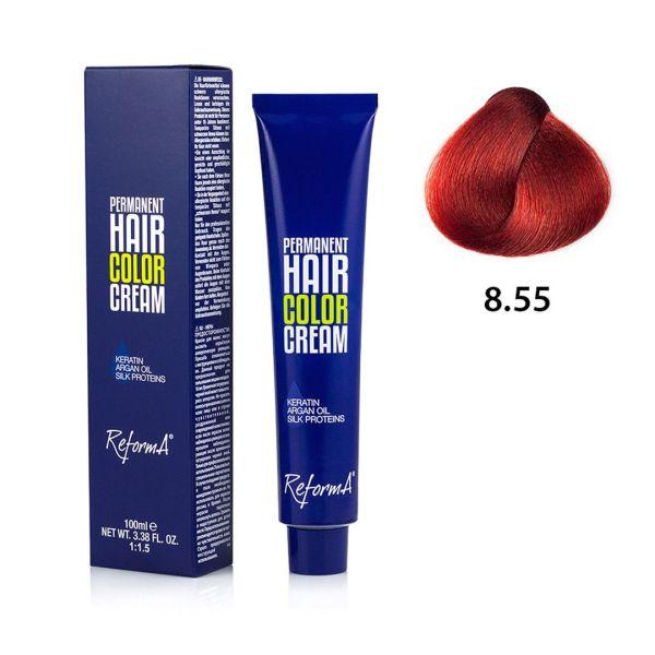 Krem koloryzujący - 8.55 - intensywny czerwony jasny blond, 100ml