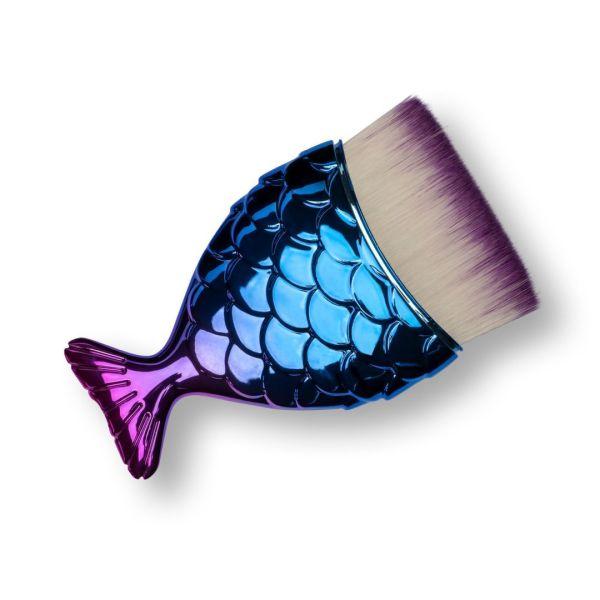 Pędzel Rybka - niebiesko-fioletowa, prosta