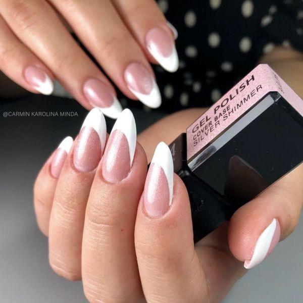 Gel Polish - Cover Base Silver Shimmer, 10ml