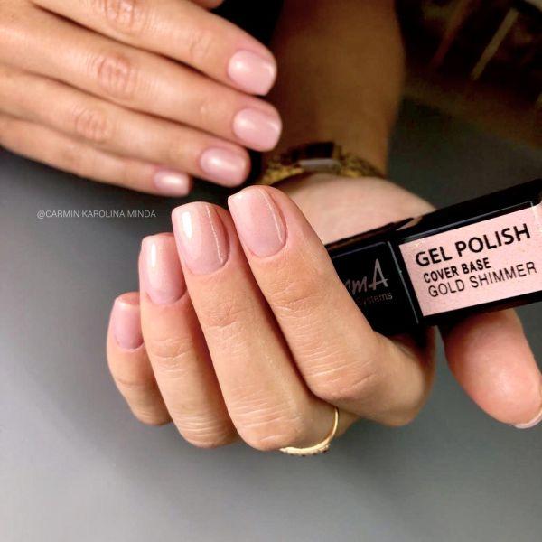 Gel Polish - Cover Base Gold Shimmer,  3ml