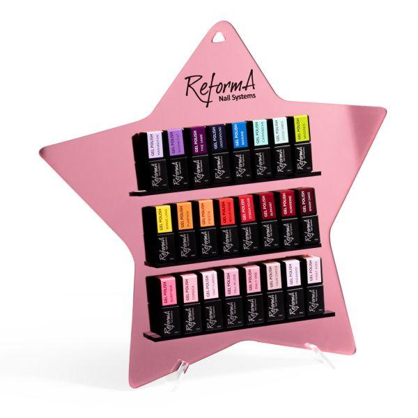ReformA Star Display - pink gold