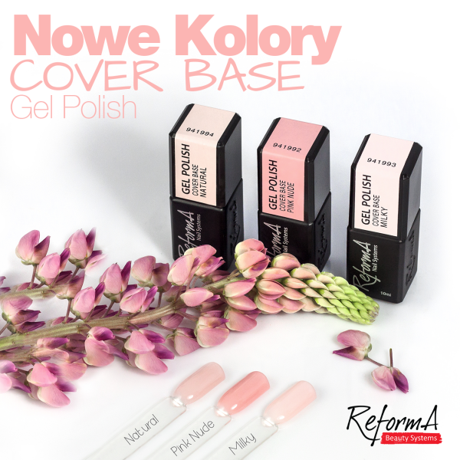 Gel Polish Cover Base Pink Nude, 10ml