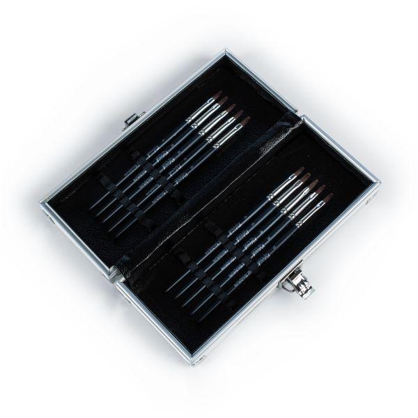Piórnik metalowy - biały