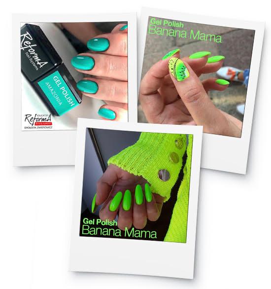 intensywne zielone paznokcie