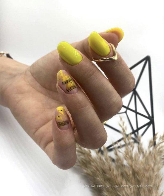 neonowy egzotyczny żółty